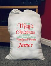 Large Personalised Santa Sack Magical Christmas