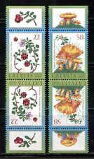 LATVIA 2007, MUSHROOMS, BERRIES Scott 684a-685b INVERTED PAIRS, MNH