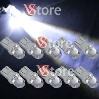 10 Lampade LED T10 1SMD BIANCO Lampadine Luci Targa e Posizione W5 Auto Palla