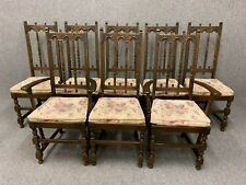 8 Ercol Old Colonial Yorkshire Dining Chairs - Gothic High Back - Delivery