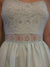 H&M Divided pale green lace bodice skater dress Size 8 EUR34