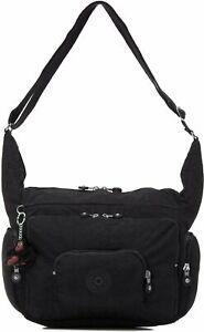 Europa Medium Shoulder Bag by Kipling, Black