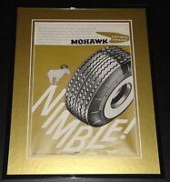 1959 Mohawk Tires 11x14 Framed ORIGINAL Vintage Advertisement