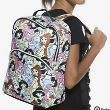 Disney Princess Print All Over Backpack W/ Laptop Sleeve School Book Bag NWT