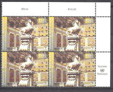 UNITED NATIONS, HORSES , INSCRIPTION BLOCK , 2002  PERF , MNH