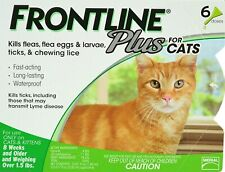 Frontline Plus for Cats - 6 Month - Usa / Epa Approved, Flea and Tick Treatment