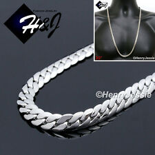 """Cuban Curb Link Chain Necklace*N155 30""""Men's Stainless Steel 6mm Silver Miami"""