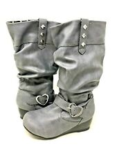 NEW! Skechers Youth Girl's HEARTSTOPPERS Boots Grey Size:12 #87985L j17d a