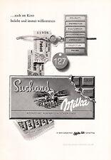 1961 SUCHARD Milka Chocolate Vintage German Magazine Ad - Deutsch Werbung