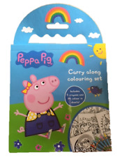 Peppa Pig Carry Along Colouring Crayons Set Kid Children Travel Holiday Gift