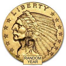 $2.50 Indian Gold Quarter Eagle Pre-33 Gold Coin Random Year Extra Fine