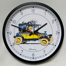 Gaston Franquin Taxi Citime wall clock horloge murale MIB