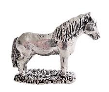 Shetland Pony Zinn Ornament - Handgemacht in Cornwall