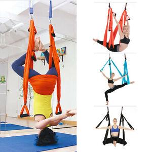 Yoga Swing Anti-gravity Kit Aerial Hammock Trapeze Inversion Exercise Home Gym