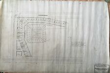 1909 ORIGINAL LEAGUE PARK CLEVELAND (INDIANS) HAND DRAWN INK ON VELUM BLUEPRINT