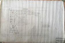 1909 ORIGINAL LEAGUE PARK CLEVELAND (INDIANS) HAND DRAWN INK ON VELUM BLUEPRINT