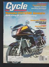 Cycle Magazine June 1983 Yamaha XVZ1200 Venture Honda Suzuki Motorcycle