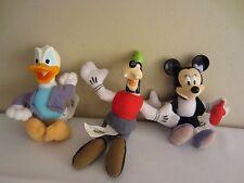 Lot of 3 McDonald's Disney House of Mouse Plush Toy Set Minnie Donald Duck Goofy