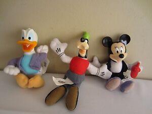 Lot De 3 Mcdonald's Disney Maison Souris Peluche Jouet Set Minnie Donald Canard