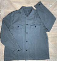 Men's Bonobos Med / Heavy Weight Chamois Button Front Shirt Gray Size XXL 2XL