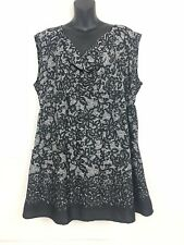 Motherhood Maternity XL Dress Plunge Neckline Pockets Black White