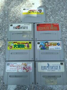 Super Famicom 7 Japan SFC games lot US Seller
