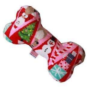 """Mirage Pet Products 6"""" Plush Bone Dog Toy Christmas Medley"""