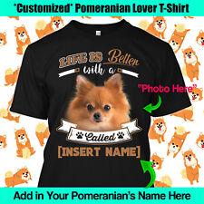 Personalized Pomeranian German Spitz Pom Miniature Dog T-Shirt Life Better Mom