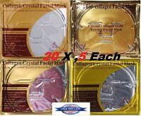 20 Pcs 4Kinds Collagen Gold /Red Wine /Pearl /Transparent HA Face Facial Masks