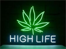 "New High Life Leaf Beer Man Cave Neon Light Sign 17""x14"""