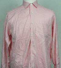 Ralph Lauren Button Front long sleeve Pink and white striped M/M made in Italy