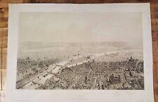 VERY SCARCE- PARIS Vue prise de L'Eglise St. Sulpice / Voyage Aérien- Circa 1850