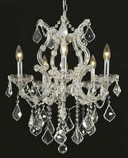 World Capital Maria Theresa 6 Light Dining Crystal Chandelier in Chrome
