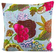 Cotton cushion cover Kantha Boho Hippie Vintage Decorative Throw Pillow Case