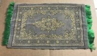 Vintage Dollhouse Miniature Traditional Area Rug Large 10.5x5.5 Inches