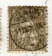 Svizzera; 1881 Classic seduta HELVETIA fine utilizzato 5c. valore,