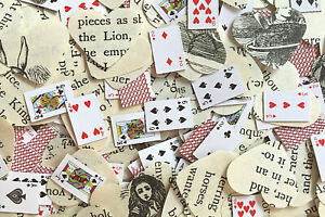 Alice In Wonderland & Playing Card Wedding/Mad Hatter's Tea Party Table Confetti
