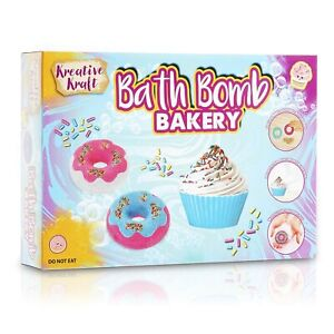 KreativeKraft Cupcake Bath Bombs For Kids Making Kit with Supplies and Mould