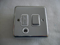 13A Switched Fused Spur AND FLEX OUTLET - Polished Chrome - 2915CHW