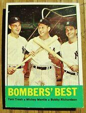 1963 Topps Bombers' Best Mantle New York Yankees # 173 EX + Tresh Richardson