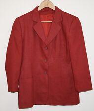 Genuine Berkertex Woman's Lady's Fashion Designer Jacket Blazer Size 14 Paprika