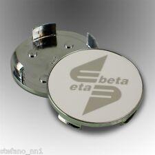 SET 4 Coppette 60,5 mm per ruote in lega ETABETA con fondo bianco logo polish