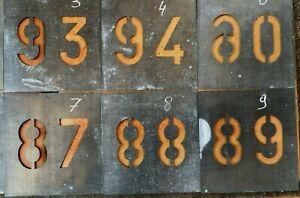 Pochoir en métal (10 chiffres de 0 à 9) décoration industriel