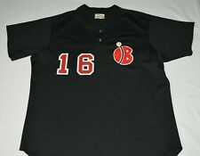 Vintage Wilson Organized High School Baseball Jersey #16 Pullover Black Size 48