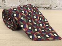 """Robert Talbott Best of Class Mens Geometric Diamonds Neck Tie 3.75""""W x 59""""L"""