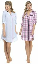 Foxbury Ladies Yarn Dyed Boyfriend Style Nightshirt