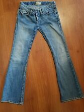 BKE Buckle Starlite Stretch Jeans size 24 x 28 Boot Distressed Ultra low