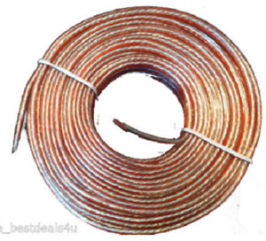 Thick Oxygen Free Copper Speaker Wire Cable High Quality 5m 10m 20m 50 100 Meter