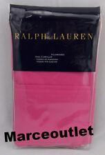 Ralph Lauren Palmer 464 Thread Count Cotton Percale KING Pillowcases Monaco Pink