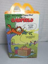 vintage garfield mc donald's happy meal box